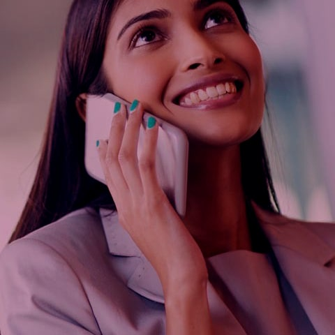 Business lady on a phone